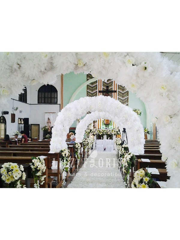 Dekorasi Gereja Pernikahan (KODE : DG 01)