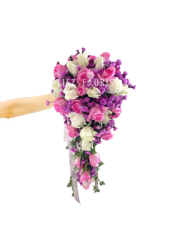 Hand Bouquet Pernikahan (Kode : BN 02)