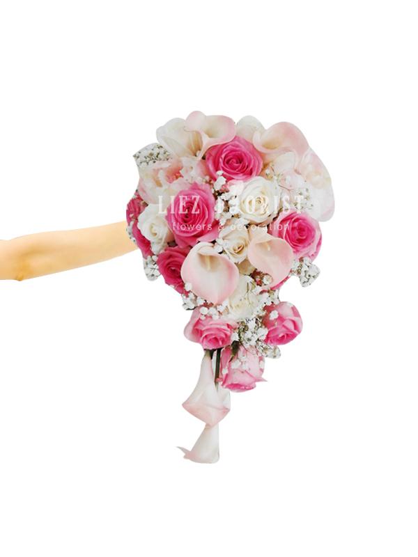 Hand Bouquet Pernikahan (Kode : BN 03)