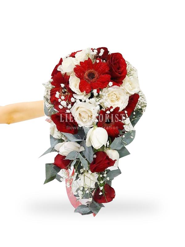 Hand Bouquet Pernikahan (Kode : BN 04)